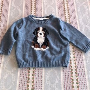 Janie and Jack Sweater with Dog